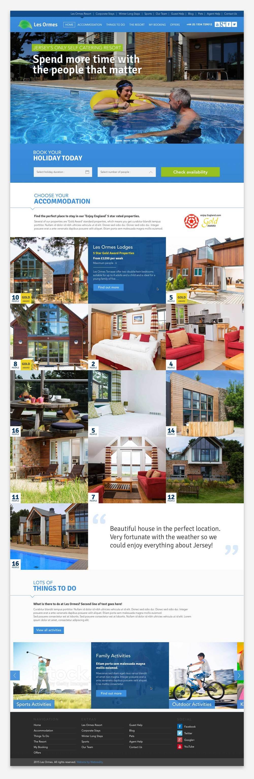 Homepage design,