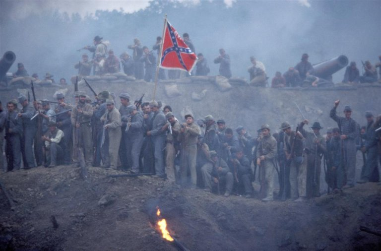 "American Civil War battle scene from ""Cold Mountain"""