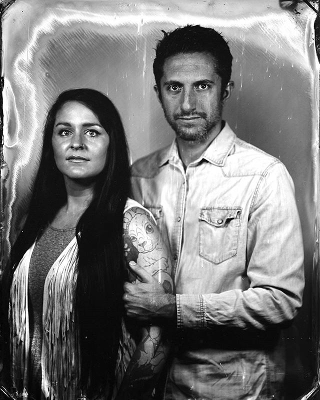 Their image struck on a tintype. From this moment on this image truthfully preserved.