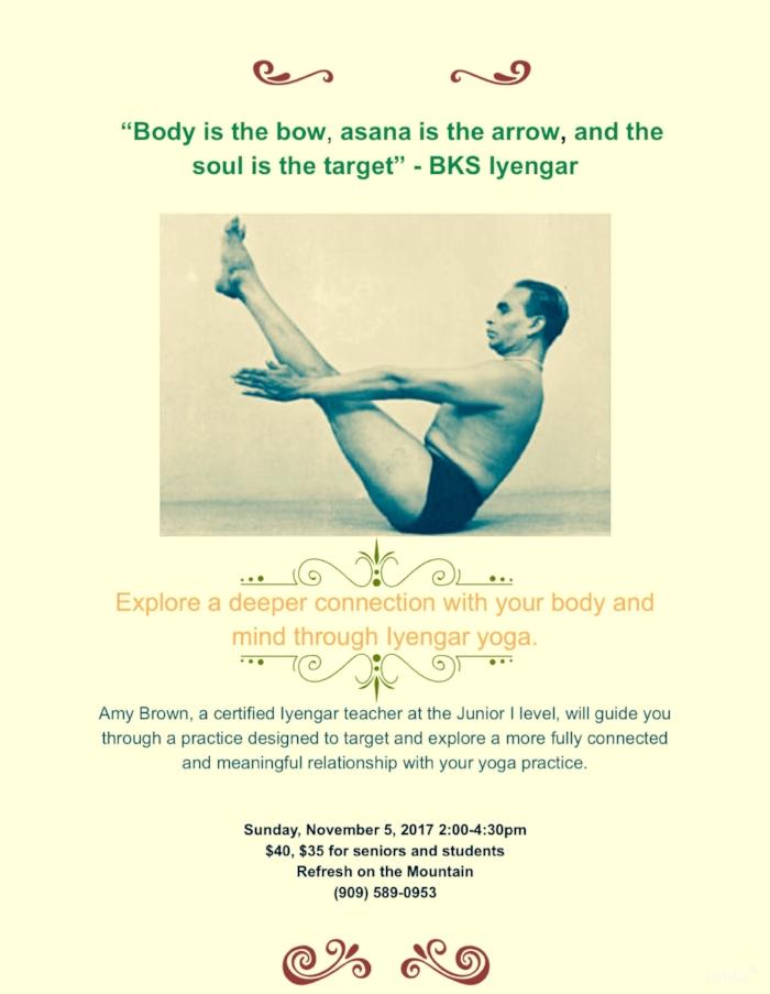 Iyengar Yoga Workshop Refresh