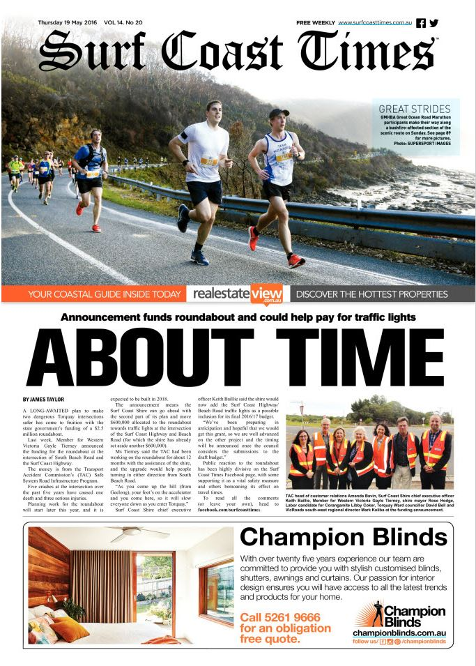 Surf Coast Times_19 05 16_Front Page.JPG