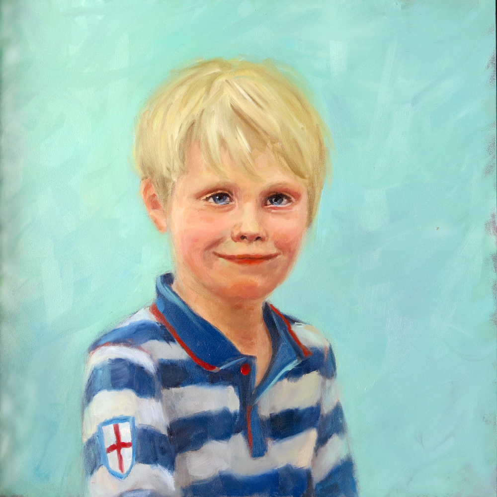 """Misha"" - oil on board, 12"" x 12"" / 30cm x 30cm"