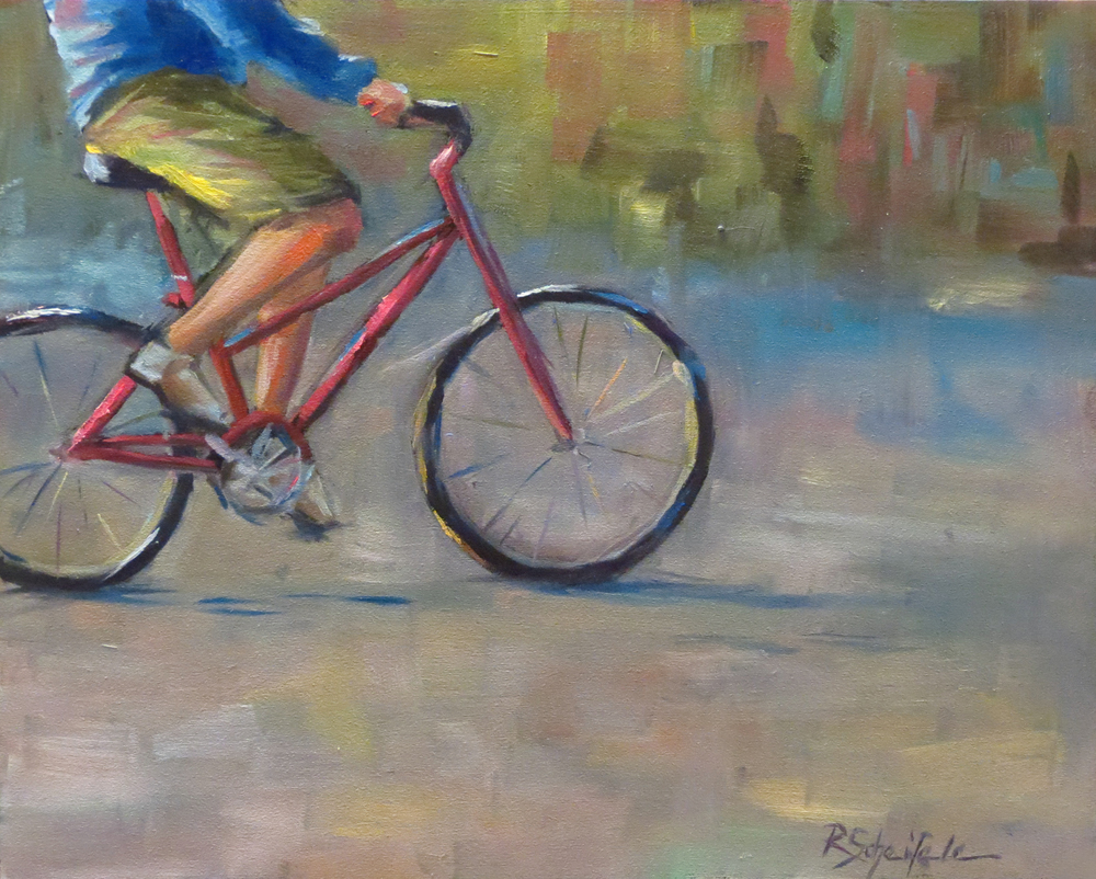"""Cruising"" - Oil on Hardboard, 8''x10''"