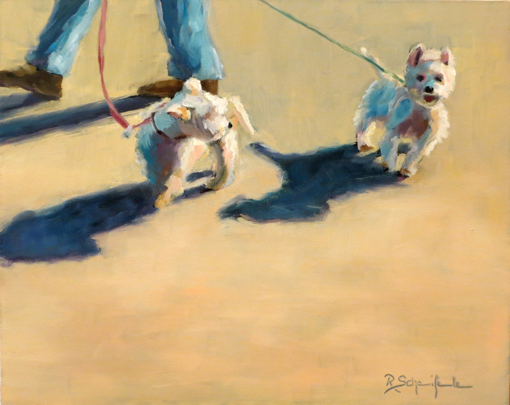 """Snoopy Guys"" - Oil on Hardboard, 8''x10''"
