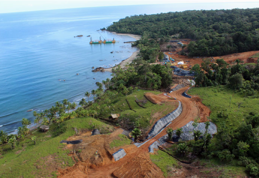 INMET's $6.2bn copper project on Panama's Caribbean coast. Petaquilla Minerals has laid claim to land adjoining the project, needed by Inmet for a tailings dump. Petaquilla's chairman, Richard Fifer-Carles, was previously chairman of Panama's national mining company.