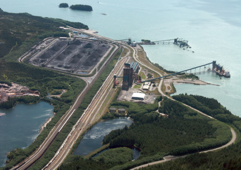 RIDLEY TERMINALS, British Columbia, where Coalspur has closed port allocation of up to 13.5m tonnes per annum. Ridley is 500km closer to Japan's Fukuyama than Australia's Port of Newcastle. Owned by the Federal Crown, it is expanding its coal stockyards and doubling rail capacity. Credit: Ridley Terminals