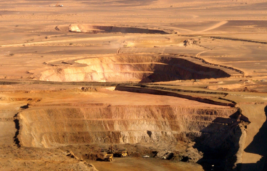 """KINROSS GOLD's Tasiast mine, Mauritania, where projected capital costs rose from $1.5bn to $3.7bn, before being scaled back. """"The good news is, we've got a lot of gold in the ground,"""" chief executive Paul Rollinson said this week."""