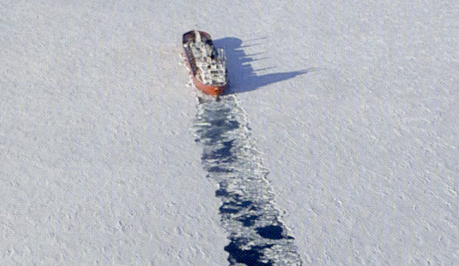 VALE's purpose built icebreaker Umiak shipping nickel concentrate from Voisey's Bay, where Altius Minerals holds a royalty on sales. Photograph: Altius Minerals