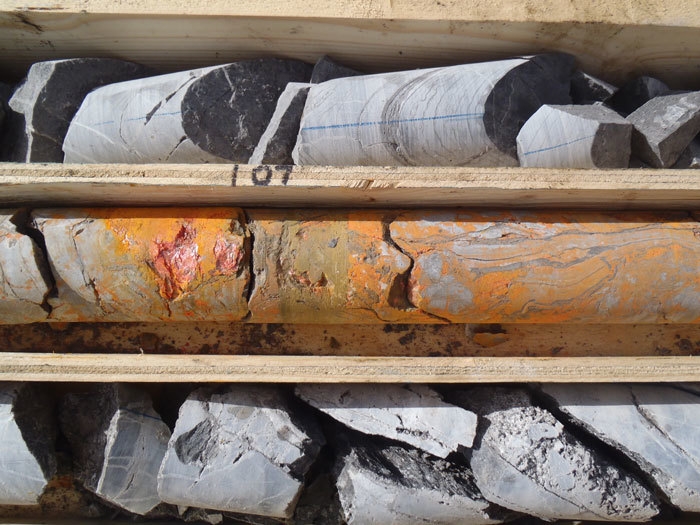 ATAC's drill cores from its Rackla gold project, Yukon.
