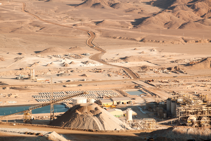 "CENTAMIN's operations in Egypt. ""It's an extraordinary business,"" Slater says, ""when you have to shift a tonne of earth to get half a gram of gold."""