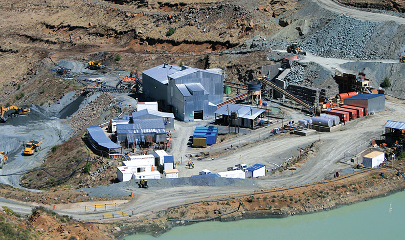 FIRESTONE DIAMONDS' pilot plant at its Liqhobong mine, Lesotho, where production has stopped for construction of a main treatment plant, projected to produce 1m carats per annum from 2016.