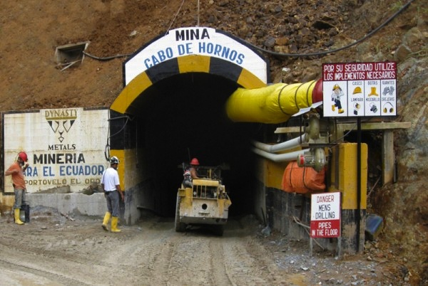 DYNASTY MINING's Zaruma gold mine in Ecuador. Coeur Mining's new royalty unit, Coeur Capital, holds a 1.5 per cent royalty over the deposit. Photo: Dynasty Mining