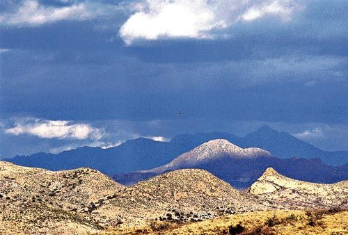 The SANTA RITA Mountains surrounding Augusta's Rosemont copper project.