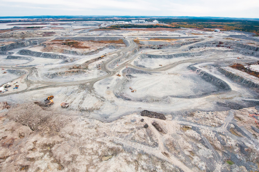 OSISKO's Malartic mine, Quebec, which hit record output levels earlier this month, producing 2,718 gold ounces in a single day, ahead of its takeover by Agnico Eagle and Yamana Gold. Photo: Osisko