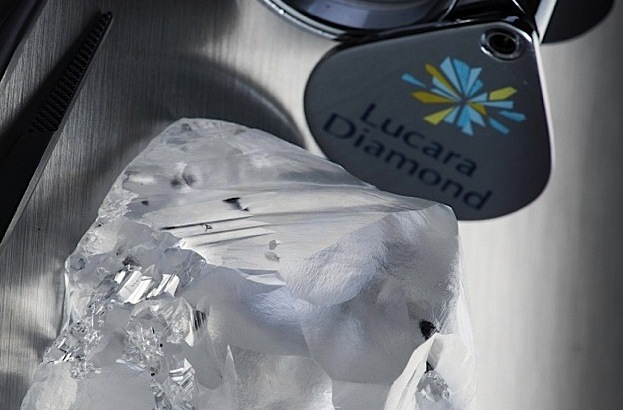 342-carat diamond recovered from Lucara's Karowe mine last month. Photo: Lucara Diamond Corp