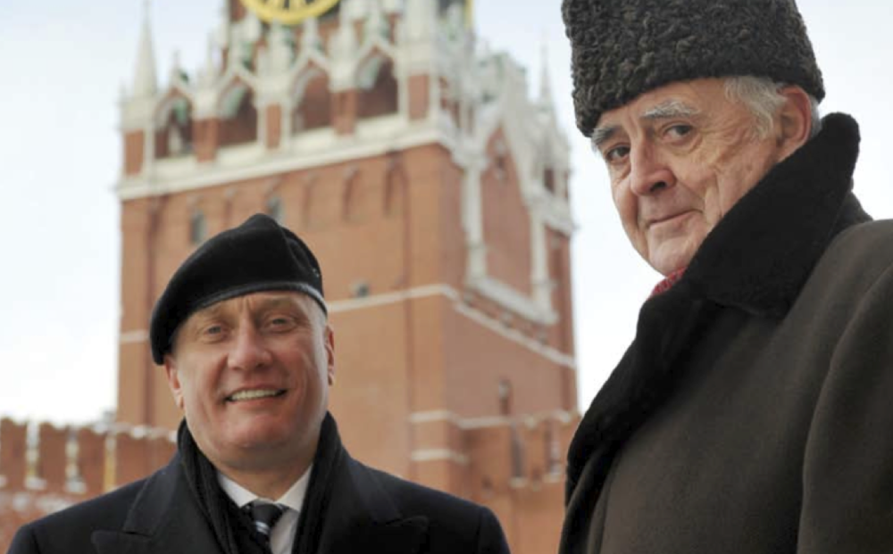PETROPAVLOVSK's co-founders Peter Hambro (right) and Pavel Maslovskiy, from the company's 2007 annual report. Hambro is currently chairman and Maslovskiy, a Russian senator, group chief executive.