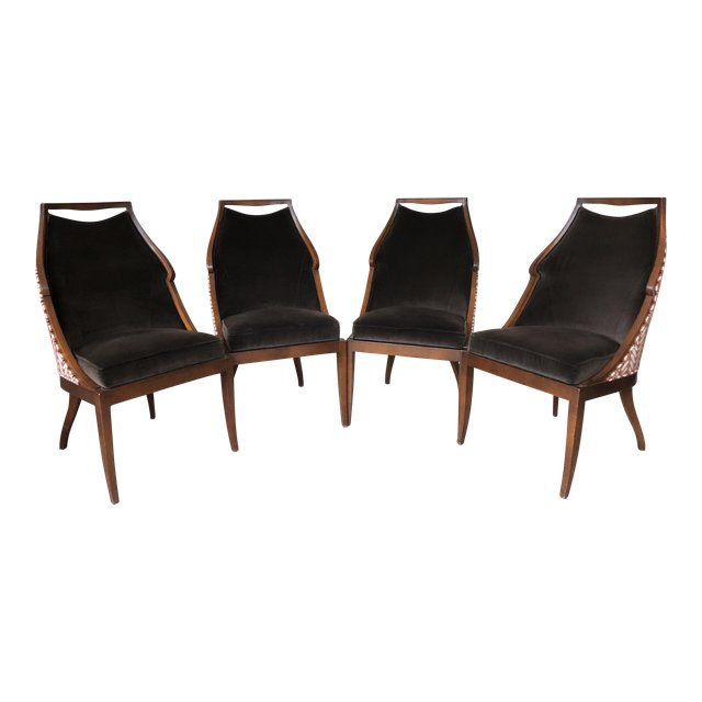 Cool Jacques Garcia For Baker Malmaison Side Chairs Set Of 4 Fdesign Co Ibusinesslaw Wood Chair Design Ideas Ibusinesslaworg