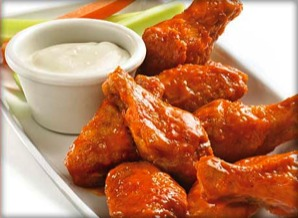 Chicken Wings - Mild, HOT, Chicago Fire, Spicy BBQ, Honey BBQ or Lemon Pepper.   60 JUMBO Wings $44.99 100 JUMBO Wings $74.99 BobbyG's Jumbo wings deep fried or Baked and ready or the buffet.  Comes with a mix of Ranch, Blue Cheese or Honey Mustard.