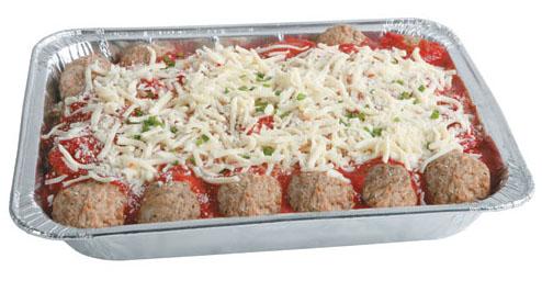 Meatball Party Pack ----------------------------------- 24 Large 2 oz. Meatballs covered in Marinara and cheese $39.99 ----------------------------------- Our Meatballs ALWAYS go Quickly