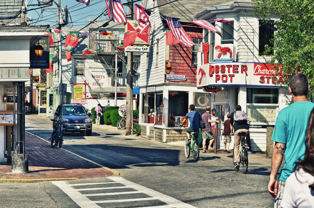 This intersection is an iconic spot in Provincetown - the Governor Bradford bar and the Lobster Pot restaurant being instantly recognizable to anyone who has summered here over the last fifty years (at the very least).