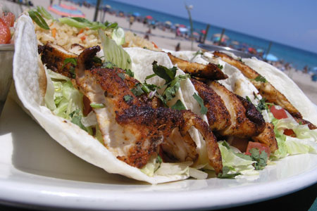 JB's On the Beach, Deerfield Beach, FL (Fish Tacos)