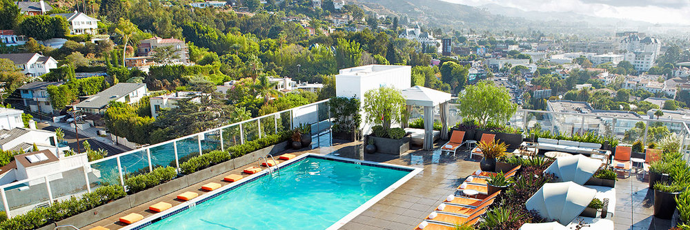 Andaz Hotel pool in WeHo