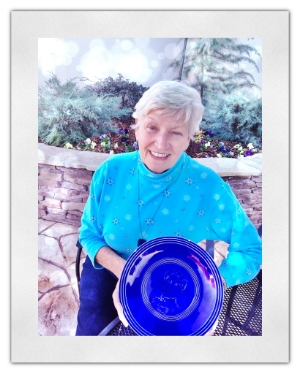 "Jane Starner wrote about a magnificent blue plate.  She cleverly titled her story, ""Blue Plate Special."""