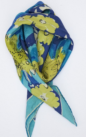 Author Tracy Chevalier is also a keeper of keepsakes.  This is a scarf that belonged to her mother.