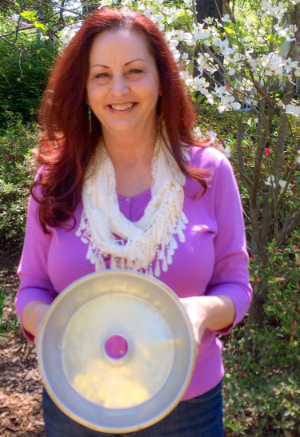 Mitzi Boyd with her Nanny's Cake Pan.  Did Nanny leave the magic in the pan?  Read Mitzi's story on page 93 of Project Keepsake to find out.
