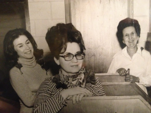 Joy Dickson and two other teachers (Ms. Harden and Lucia Rutland) from the Wilcox County School System in Georgia. Notice Joy's beautiful beehive hairdo.