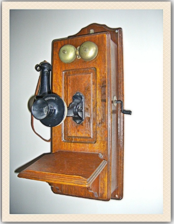 Phyllis Qualls Freeman wrote a lovely story about an old, crank telephone that she and her husband have had for years. Her story begins on page 219 of Project Keepsake.