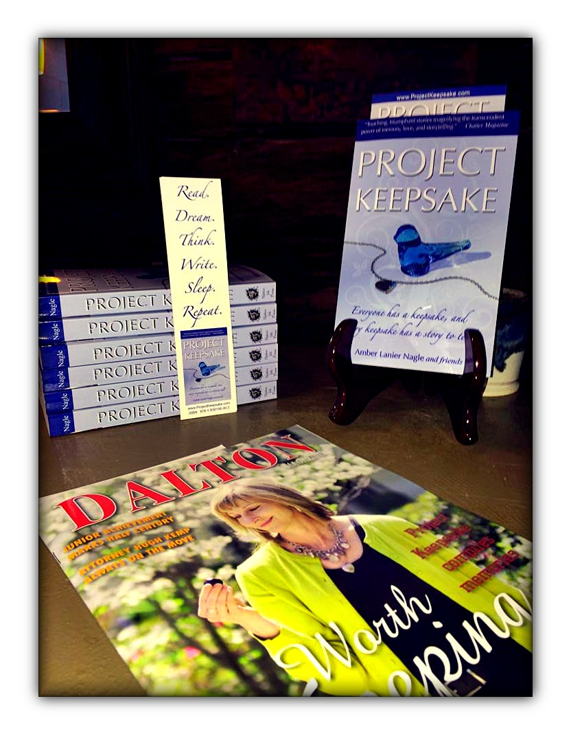 Signed copies of Project Keepsake are available at Dave & Pauli's Art Emporium in downtown Dalton.