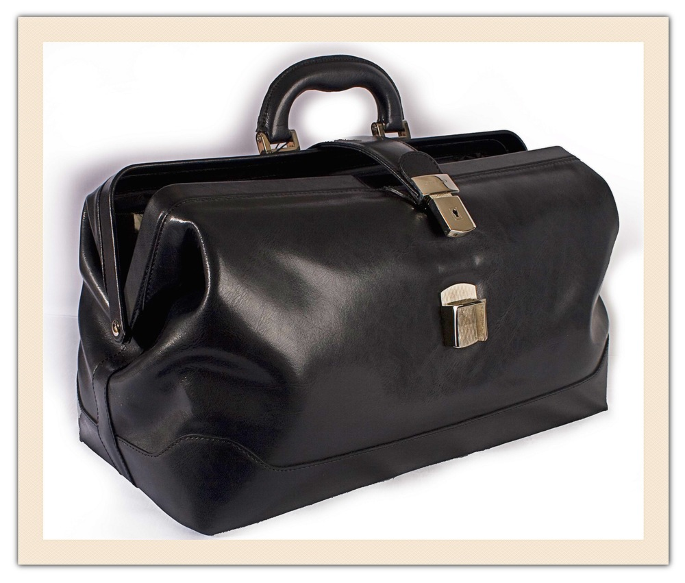 Shari Herrin Bergmann wrote about her daddy's black medical bag.