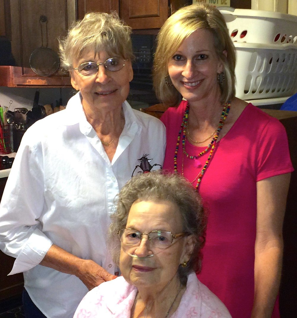 Mom and I with Aunt Joyce in 2015 in her Richmond Hill home.