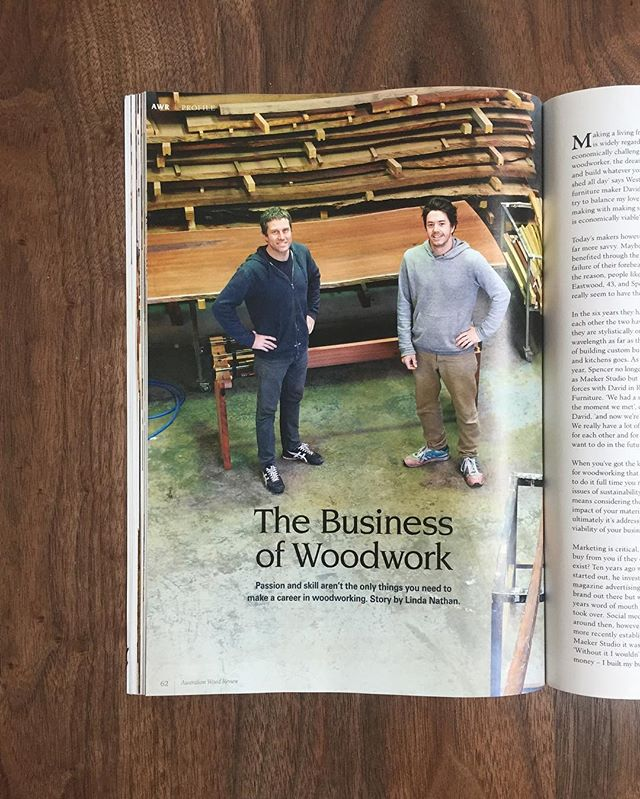 We are absolutely stoked to be featured in the latest issue of @woodreview . In this issue we discuss the business of furniture making and all the joys that come with it!