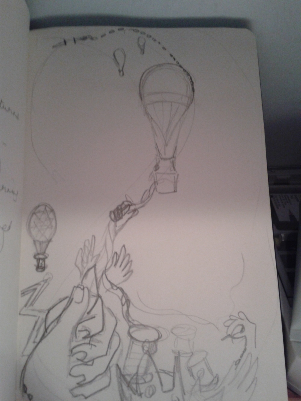 Initial sketch and Idea for illustration