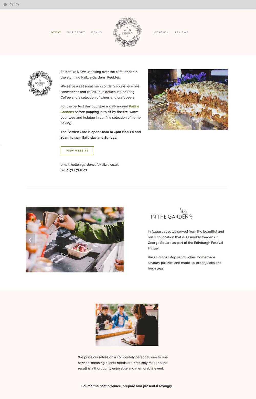 Wild Dining Website