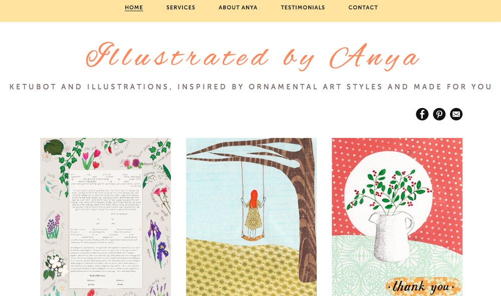 Illustrated by Anya small business website