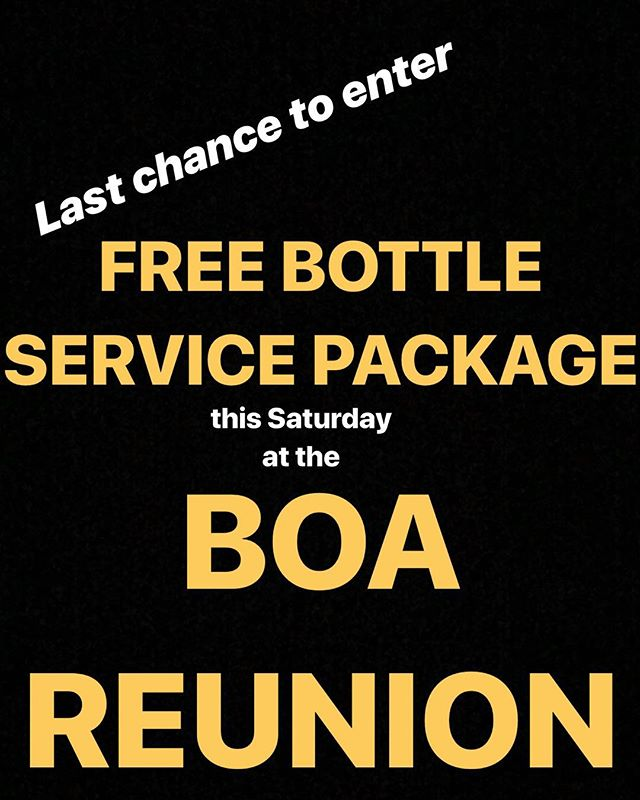 Tag a friend in the comments for your chance to win!!! BOA REUNION • saturday feb 2
