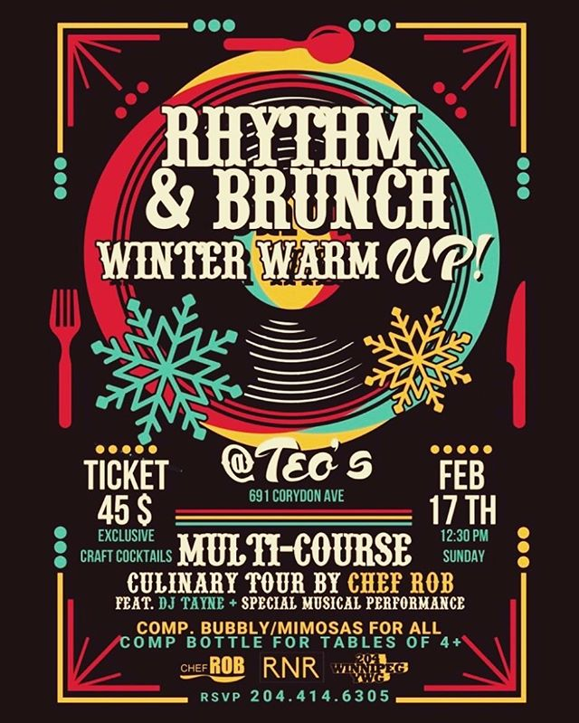 Rhythm and Brunch winter warmup!! For tickets and info please contact @rnr_events