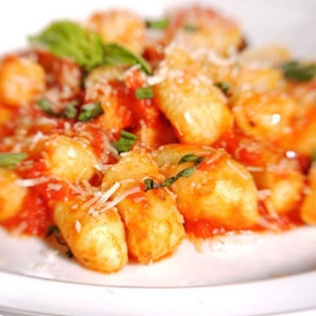 Potahto Week Special  Gnocchi handmade by Nona Come in and try with pesto or red sauce for $15 #potahtoweek #gnocchi