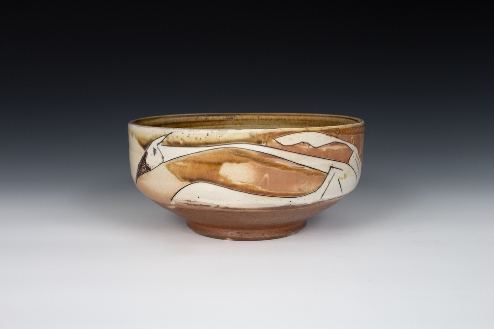Sandhill Crane Serving Bowl