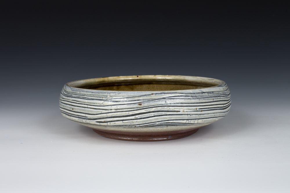 Brushed Slip Serving Bowl