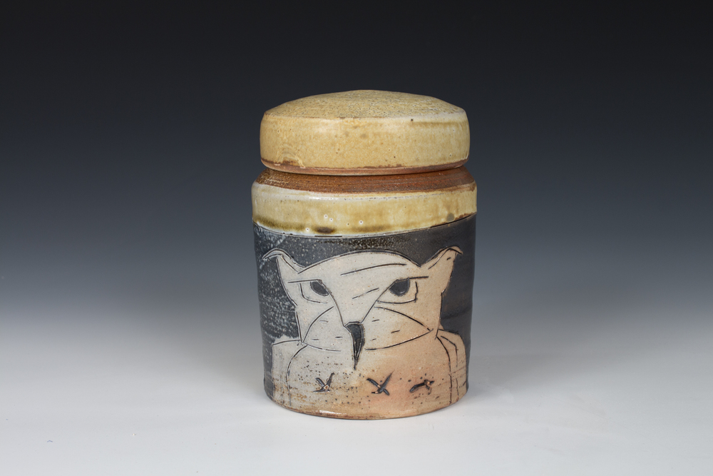 Owl Capped Jar