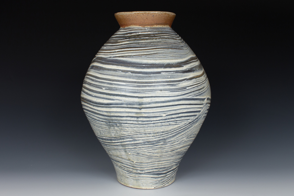 Brushed Slip Vase
