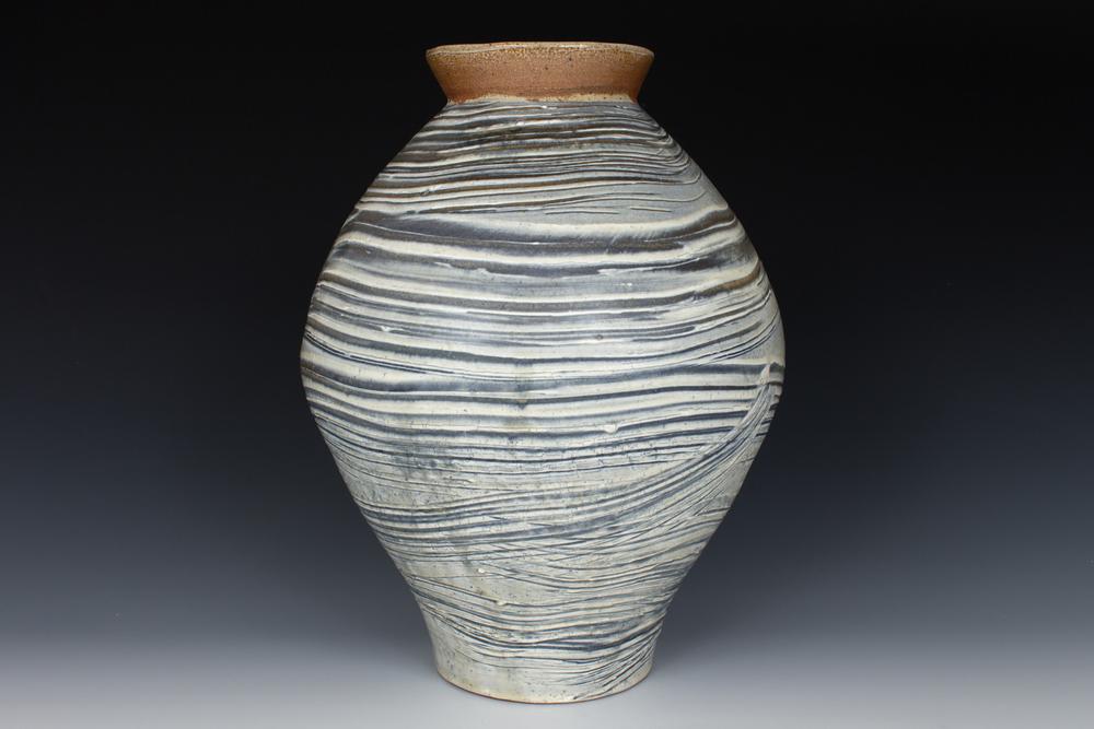 Brushed Slip Vase