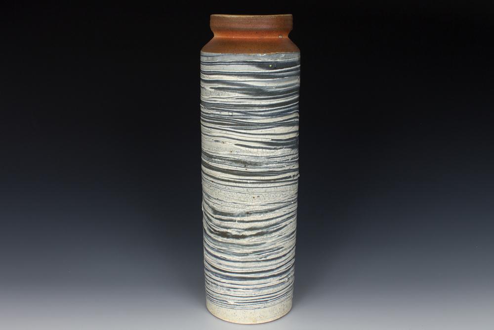 Brushed Slip Cylinder Vase