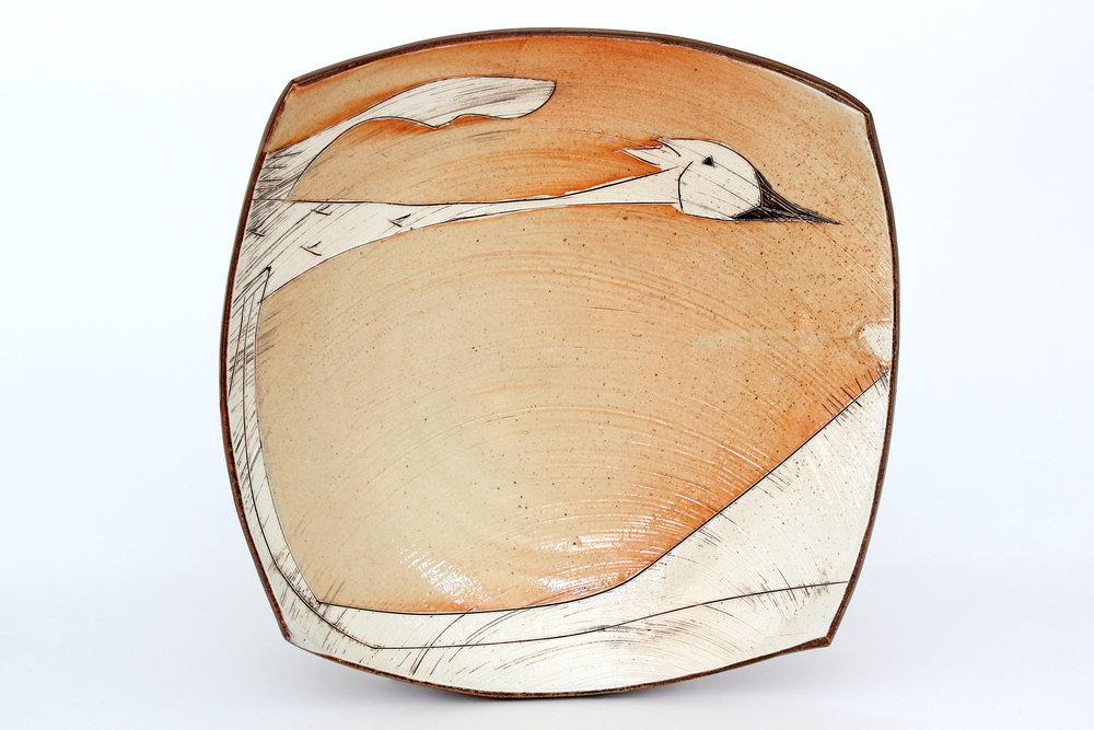 Sandhill Crane Platter. 2018