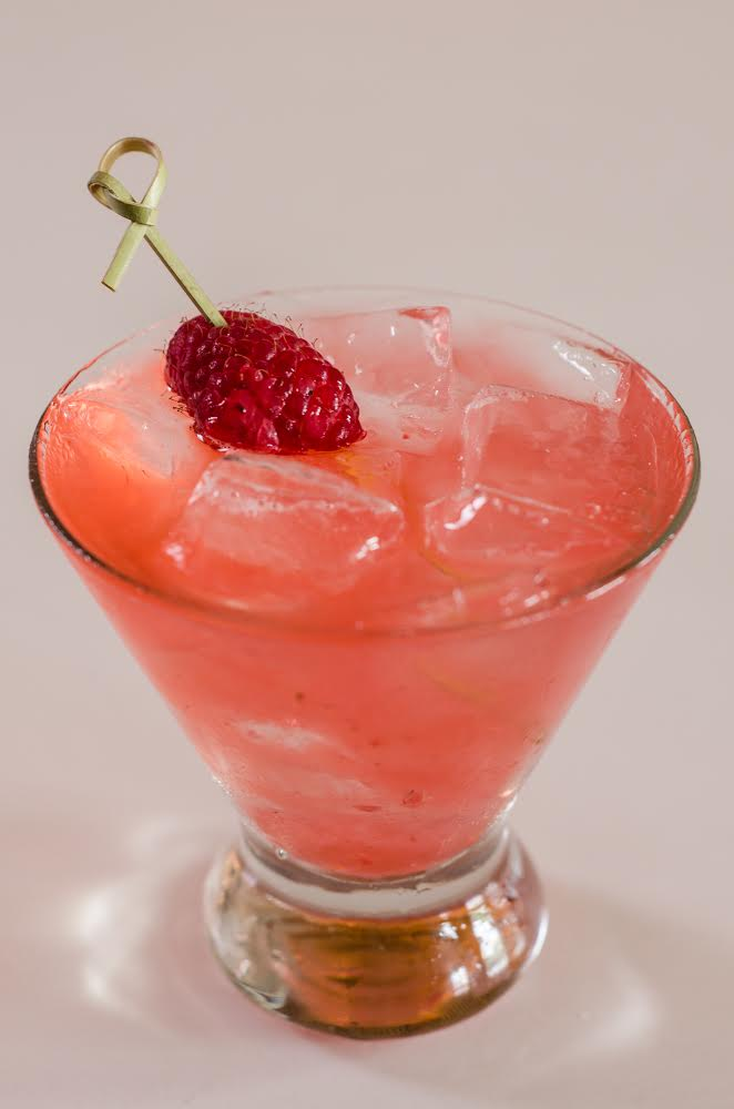 Shore Club's Raspberry & Rose Gin Rickey