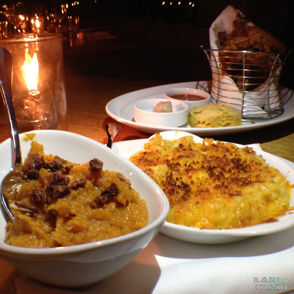 Mac N Cheese & Sweet Mash w/ Candied Pecans